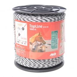 AKO TopLine schrikdraad wit/zwart 6x0.25 TriCOND 1000m