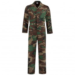 Camouflage overall kind polyester / katoen