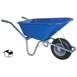 Bouwkruiwagen basic blauw 100 liter