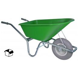 Bouwkruiwagen basic lime groen 100 liter anti-lekwiel