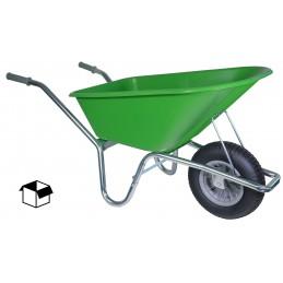 Bouwkruiwagen basic lime groen 100 liter
