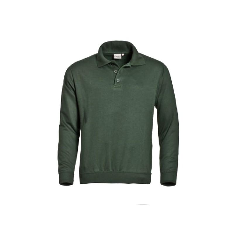 Groene sweater met polokraag