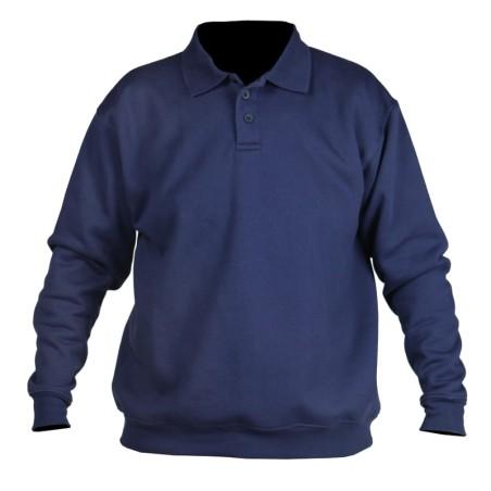Sweater met polokraag marine