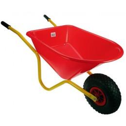 Kinderkruiwagen rood geel