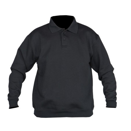 Polo sweater zwart