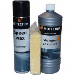 Autoshampoo set met wax en spons