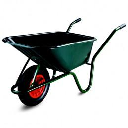 Kruiwagen Limex 100 liter groene PP bak gelakt onderstel