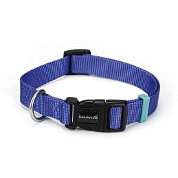 Honden halsband nylon blauw 15x 26-40