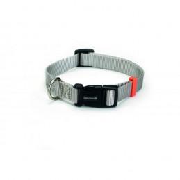Honden halsband nylon grijs 15x 26-40