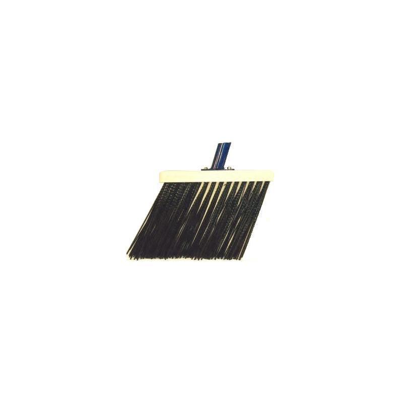 Schuine gootbezem zwart 28 cm